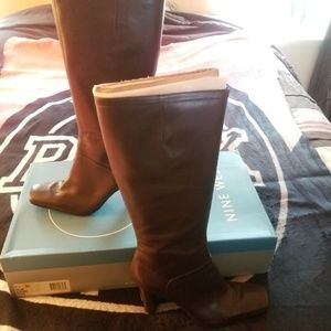 Ninewest Leather Tall Boots